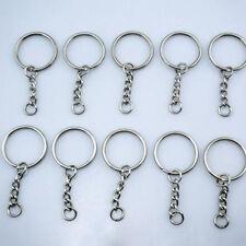 Findings 55mm 4 Link Tone Blanks Silver 10Pcs Keychain Key Keyring
