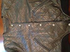 Women's EXPRESS Leather Jacket Avenue De L'Opera High End Diamond Size Medium