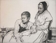 WILLIAM LEE HANKEY - Sympathy - Etching - Pencil Signed