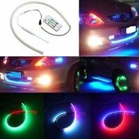 60CM RGB LED White Car Headlight Strip Light Flexible Soft Tube Neon DRL Lamp