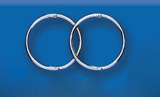 White Gold Sleeper Hoop Earrings Hoops 14mm Hinged