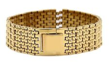 Genuine Citizen Watch Band 18 mm Wide Gold Over Stainless Steel