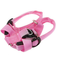 Fashion Safety Nylon Dog Pet Belt Harness with Glow LED Flash Light Pink EM#01