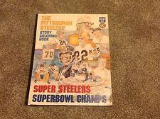 1976 Pittsburgh Steelers HUGE 17x22 Coloring Book Mean Joe Franco Swann Noll