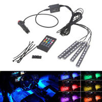 RGB 9 LED Neon Strip Light Music Remote Control for Car Interior Lighting Strip
