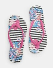 New! Joules Navy Cottage Stripe Flip Flops UK 5 and 6
