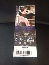 2010 Rockies vs. San Diego Padres Ticket Stub - September 14 Fowler