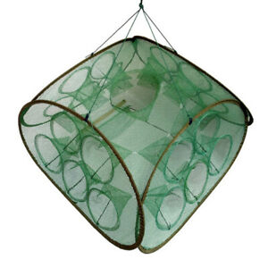 Fishing Net Lobster Square Cage Portable Folding Catch Automatic Fishing Tool