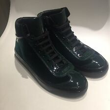 aed500dbe45 NEW Jimmy Choo Argyle High Top Trainers Sneakers Green 43 UK 9