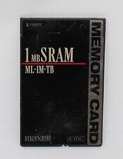 Hitachi - Maxell 1MB PCMCIA SRAM Memory Card ML-1M-TB *New Battery*