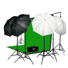 Fancierstudio Photo Portrait Photography Studio Video Lighting Kit Green Screen