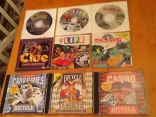 (Lot of 6) PC Family Board & Card Games Bicycle Card & Casino, Clue, Life & More