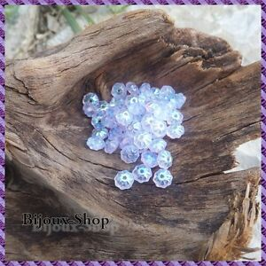 50 Perles de Bohême Spacer petite Fleur 6x3 mm +/-