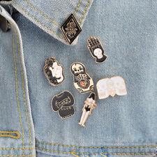 Enamel Pin Badges - Set of 7 - Goth Punk Skeleton Loner - EB0021