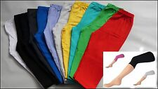 Girls 3/4 Length Cropped Leggings Cotton Summer School Baby age 6M to 14 Years