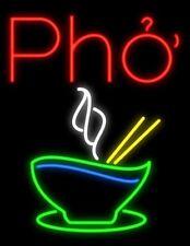 """New Pho Vietnamese Food Open Beef Noodle Light Lamp Neon Sign 32"""" Beer Glass Bar"""