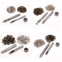 4-6mm Eyelet Punch Die Tool Set 100 Sets Eyelet Clothing Grommet Leather Craft
