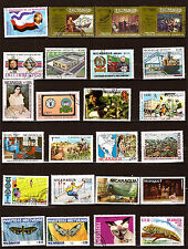 NICARAGUA  Timbres usages courants :animaux,papillons, sujets divers 52M314A