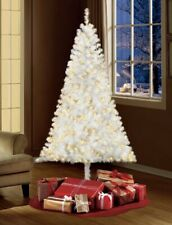 NEW 6.5' Artificial Christmas Tree Pre-Lit Madison Pine W/ Clear-Lights Decor