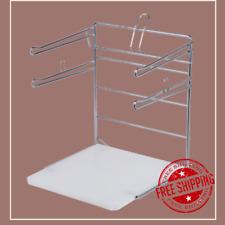 Grocery Store Supermarket Chrome T Shirt Plastic Bag Rack Stand Holder Dispenser
