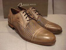 BACCO BUCCI MEN'S MANFRED DERBY GREY SHOES SZ 13 MADE IN ITALY  - BRAND NEW