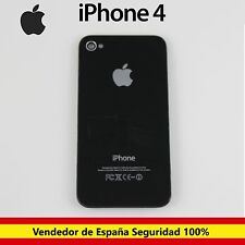 Apple iPhone 4 4G Tapa Trasera Cubierta Bateria Chasis Cristal Negra Negro