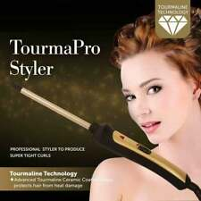 Professional Pro Styler Ceramic Thin Curling Wand 200°c Tourmaline