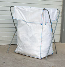 5 X White PP Wool Pack Garden Recycling Bale Rubbish Clothing Bag