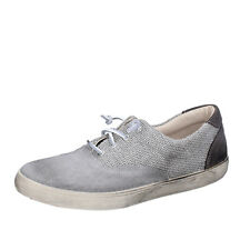 men's shoes BEVERLY HILLS POLO CLUB 9 (EU42) sneakers gray textile suede AH991-D