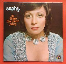 Sophy Te Tengo Que De Adios Latin Pop Velvet 1973 Puerto Rico Ex