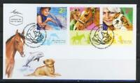 ISRAEL STAMPS  2009 ANIMAL ASSISTED THERAPY FDC DOG HORSE DOLPHIN  FAUNA