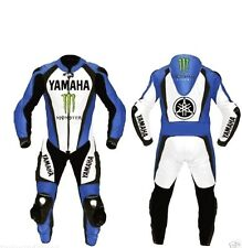 YAMAHA MOTORBIKE LEATHER SUIT MENS RACING MOTORCYCLE LEATHER SUIT ALL SIZES