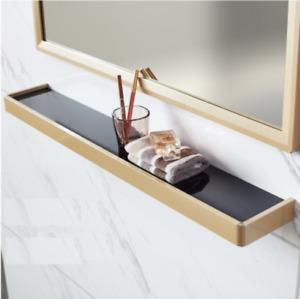 Bathroom Shower Shelf Stainless steel&Glass Basket Storage Rack Wall mounted New