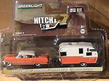 Greenlight Hitch & Tow 1955 Cadillac Fleetwood w/ Shasta Airflyte Camper