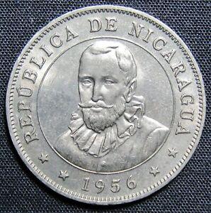 1956 Nicaragua 50 Centavos Coin