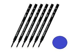 6 Pack SCHMIDT 888 Safety Rollerball Ceramic Tip Pen Refills - Blue Broad Bold