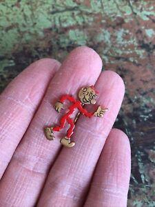 Mr Sparky Vintage Reddy Kilowatt Stick Pin Red Enamel