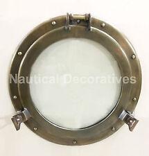 "17"" Porthole Window Glass Aluminum Chrome ~ Ship Cabin Porthole ~ Nautical Decor"