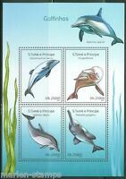 SAO TOME  2014 DOLPHINS  SHEET MINT NH