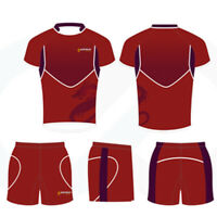 11 Customized Rugby Uniform Set Shirts & Shorts Custom Size Available