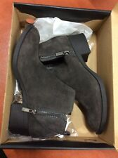 KENNETH COLE New York Women Leather Bootie Ankle Boot Side ZipperAsphalt 7.5 NWT