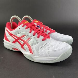 ASICS Women's Gel-Dedicate 6 White Laser Pink Tennis Shoes Sizes 6.5-11 M