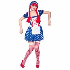 Ladies Womens Cute Rag Doll Costume for Circus Clown Fancy Dress Outfit (s) Small