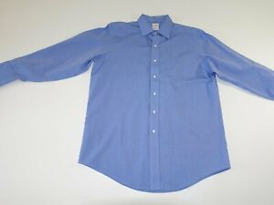 Brooks Brothers Men's Non Iron Dress Shirt 16 - 32 Blue French Cuff Long Sleeves