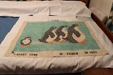 Penguins Color Rug Canvas Only