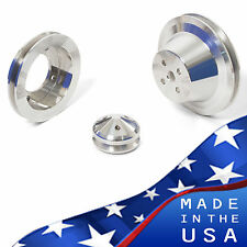 Ford Pulleys 289 302 351W Underdrive V-belt Kit 1V Billet Aluminum Set SBF