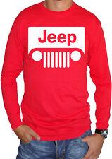 fm10 camiseta de manga larga unisex JEEP logo blanco coche vehículo todoterreno