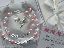 Girls birthday personalised bracelet Birthday necklace box gift set