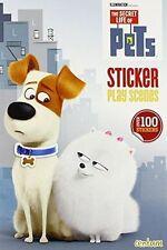 100 STICKERS The Secret Life of Pets Sticker Play Scenes Book Chloe Max Gidget