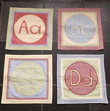 New listing Nwot Pottery Barn Kids Alphabet Quilted Stitched Gingham A B C D Placemat Set 4